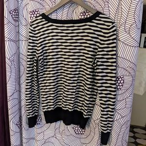 fun pattern long sleeve sweater shirt 14th & union